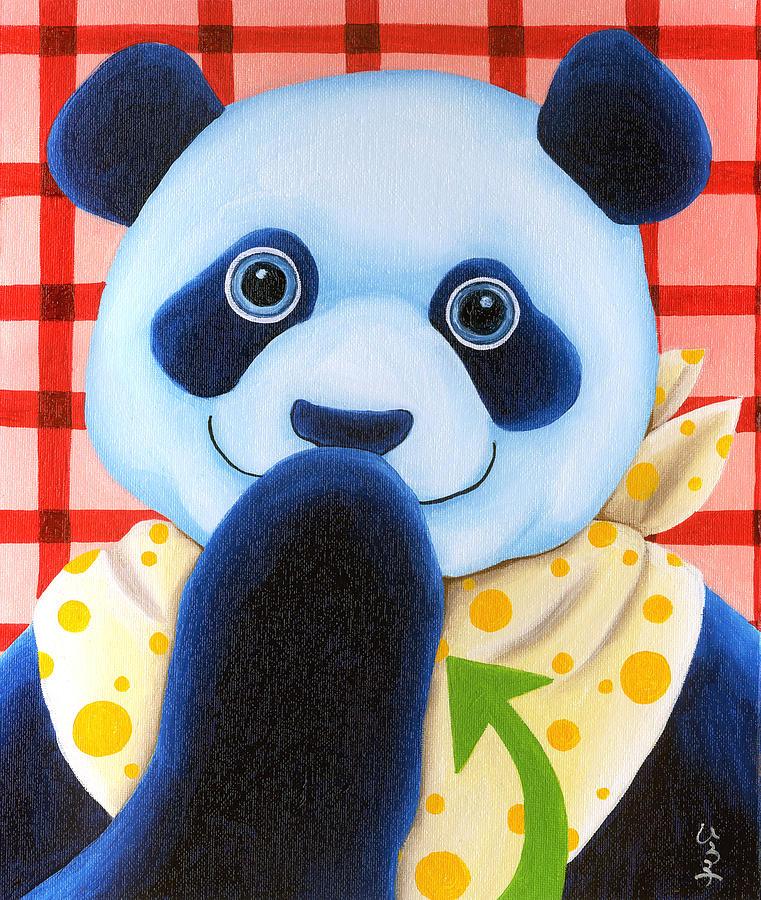 Panda Illustration Painting - From Okin The Panda Illustration 11 by Hiroko Sakai