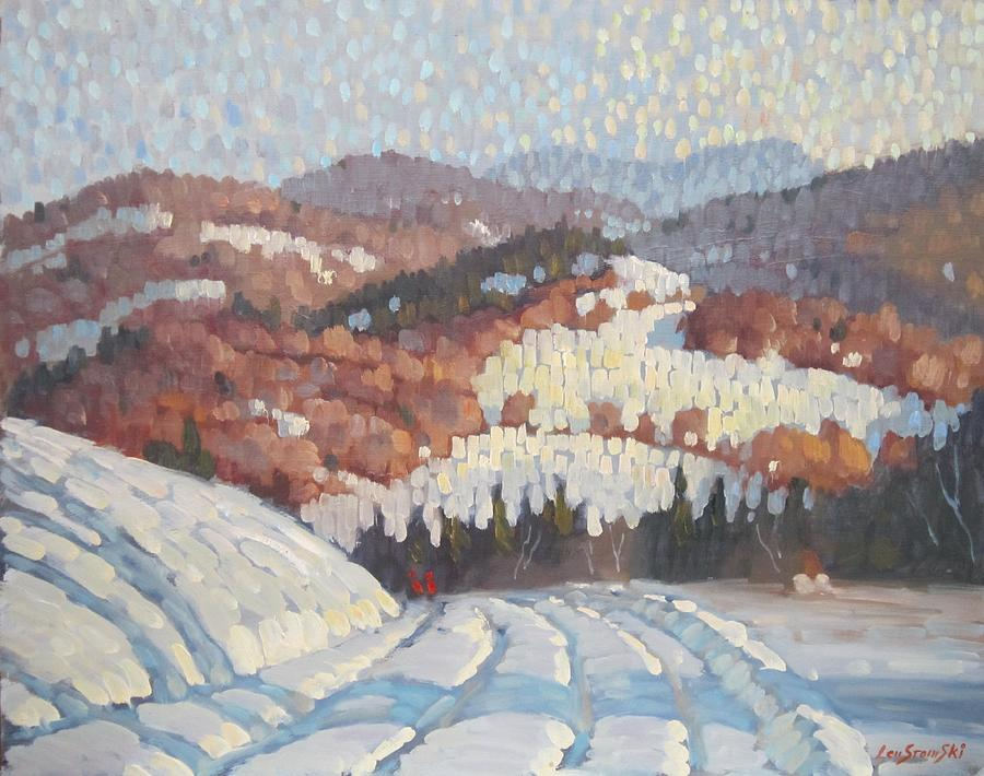 Berkshire Hills Paintings Painting - From Partridge Road by Len Stomski