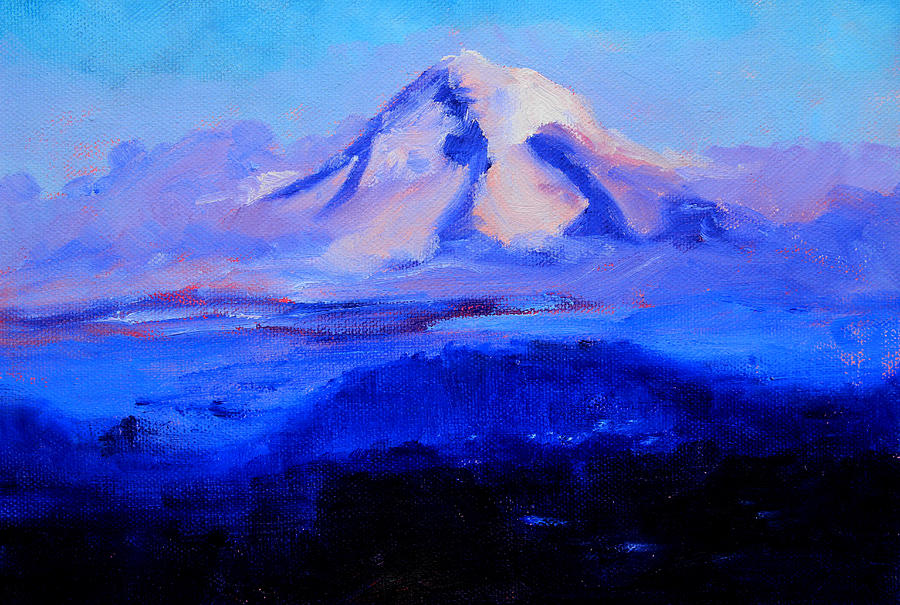 Oregon Painting - From Portland by Nancy Merkle