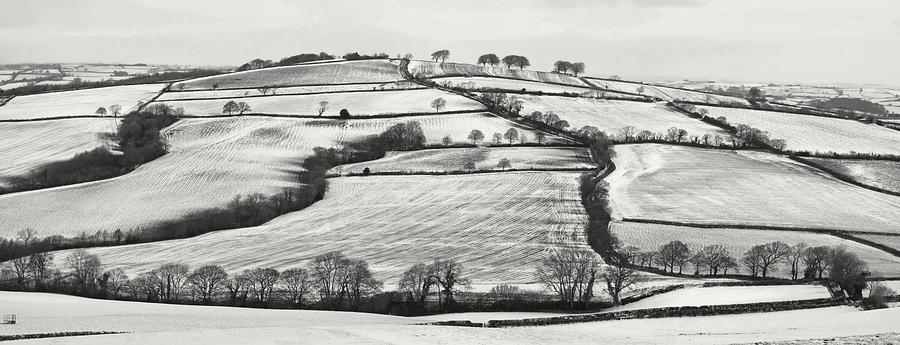 Snow Photograph - From Raddon Top In The Snow by Pete Hemington