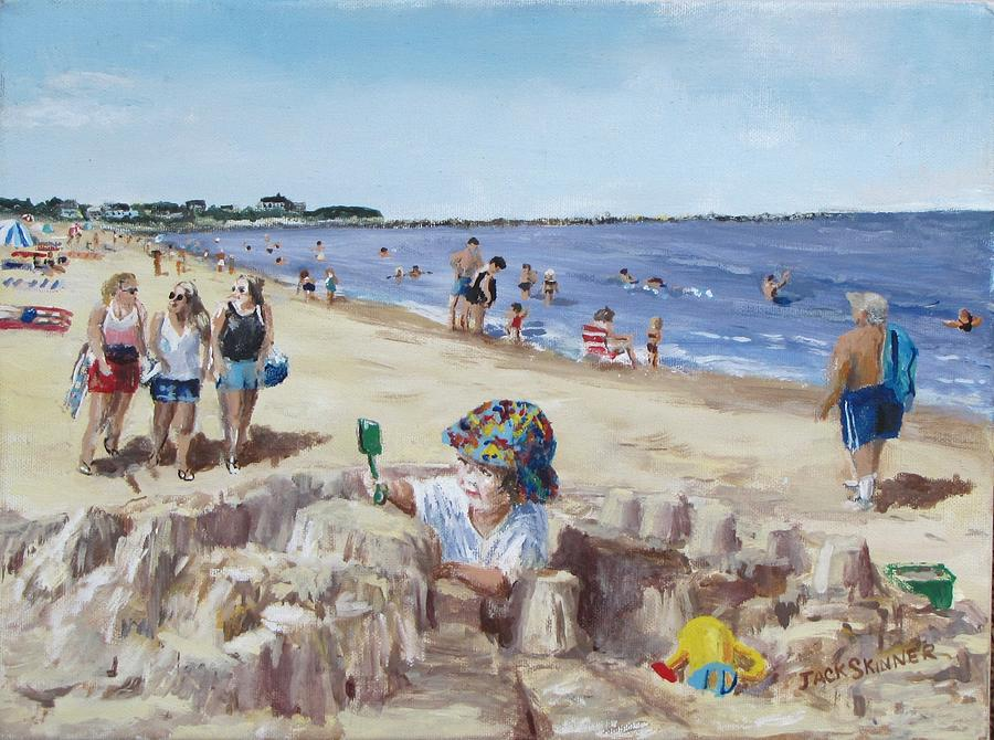Beach Painting - From Sandcastles To College by Jack Skinner