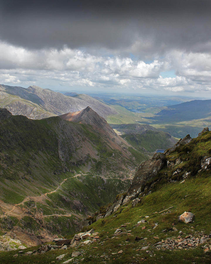Mountains Photograph - From Snowdons Summit by Ed Pettitt