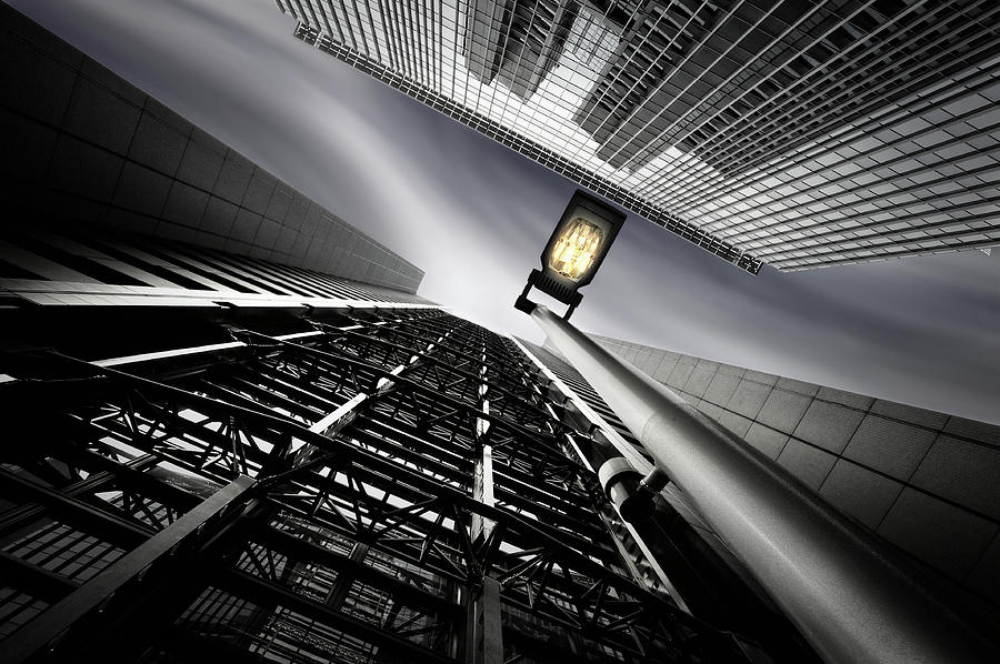 Architecture Photograph - From Steel Gridded Nadir by Dr. Akira Takaue