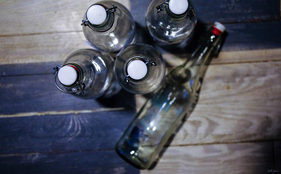 Bottle Photograph - From The Bottle Top by John Grace