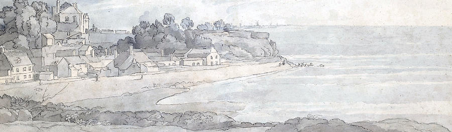 From The Heathfields Seat Drawing by Francis Towne