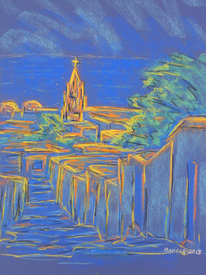 San Miguel De Allende Pastel - From The Heights by Marcia Meade