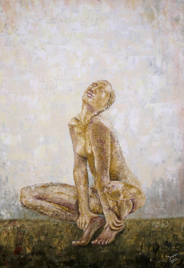 Nude Woman Painting - From The Inside by Draia Coralia