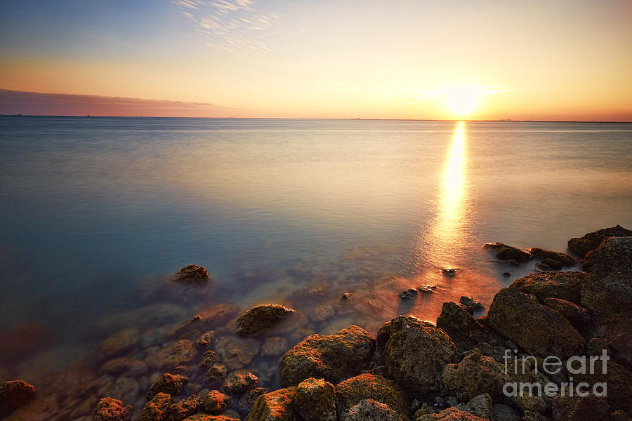 Harbor Photograph - From The Rocks Sunset  by Eyzen M Kim