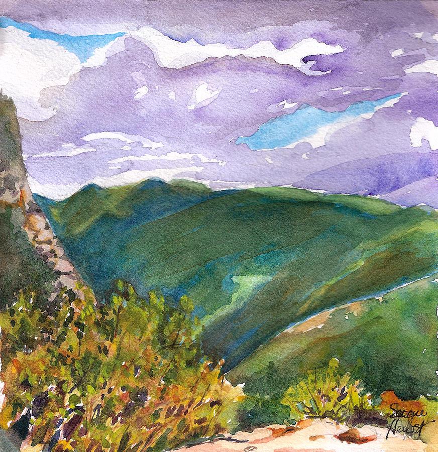 Tuckerman's Painting - From Tuckermans Ravine by Susan Herbst