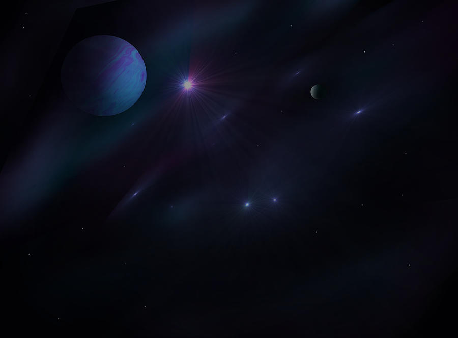 Planets Digital Art - From Up Above by Ricky Haug