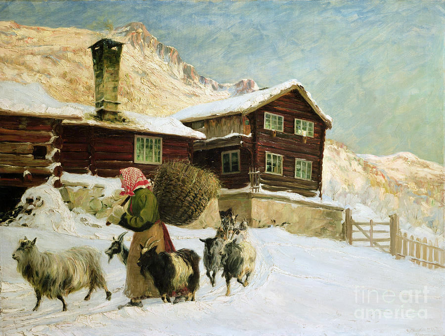 Farming Painting - From Vaga by Gustav Wentzel