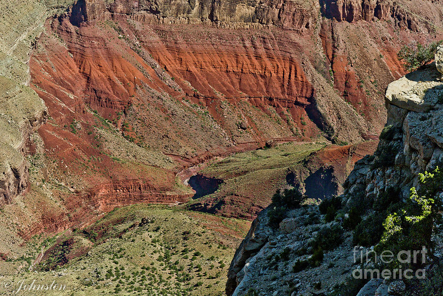 Abstract Photograph - From Yaki Point 5 Grand Canyon by Bob and Nadine Johnston