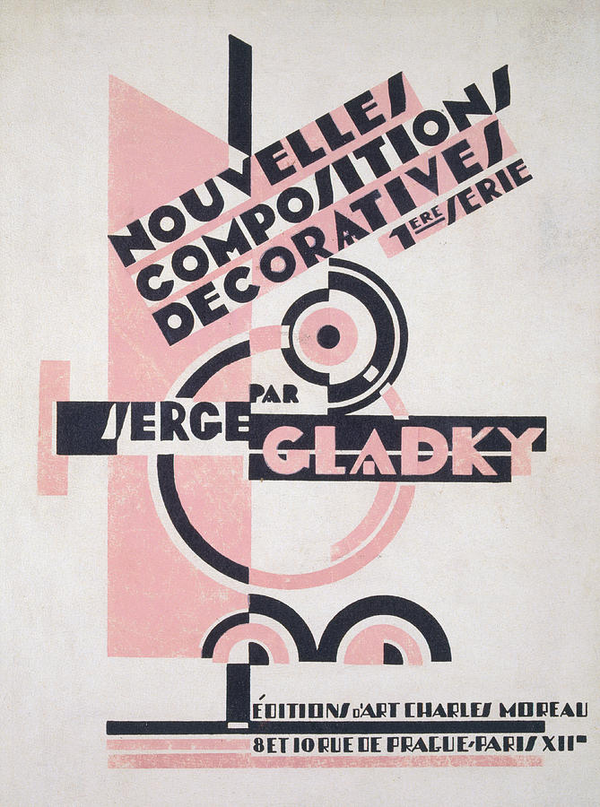 Design Painting - Front Cover Of Nouvelles Compositions Decoratives by Serge Gladky