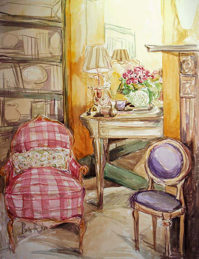 Floral Painting - Front Of The Mirror by Becky Kim