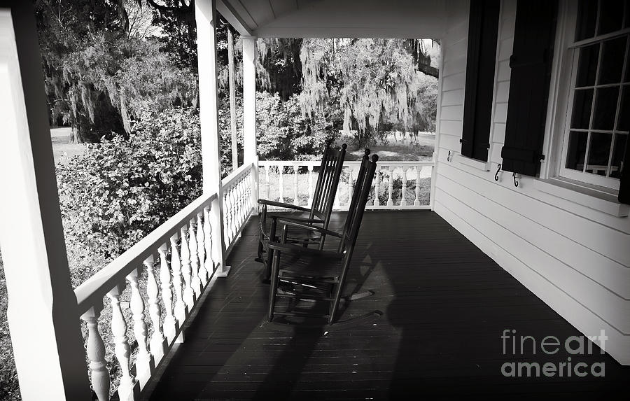 Front Porch Chairs Photograph - Front Porch Chairs by John Rizzuto