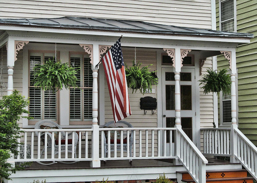 Victor Montgomery Photograph - Front Porch Flag by Victor Montgomery
