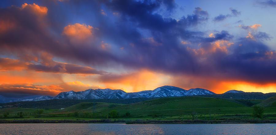 Colorado Photograph - Front Range Light Show by Darren  White