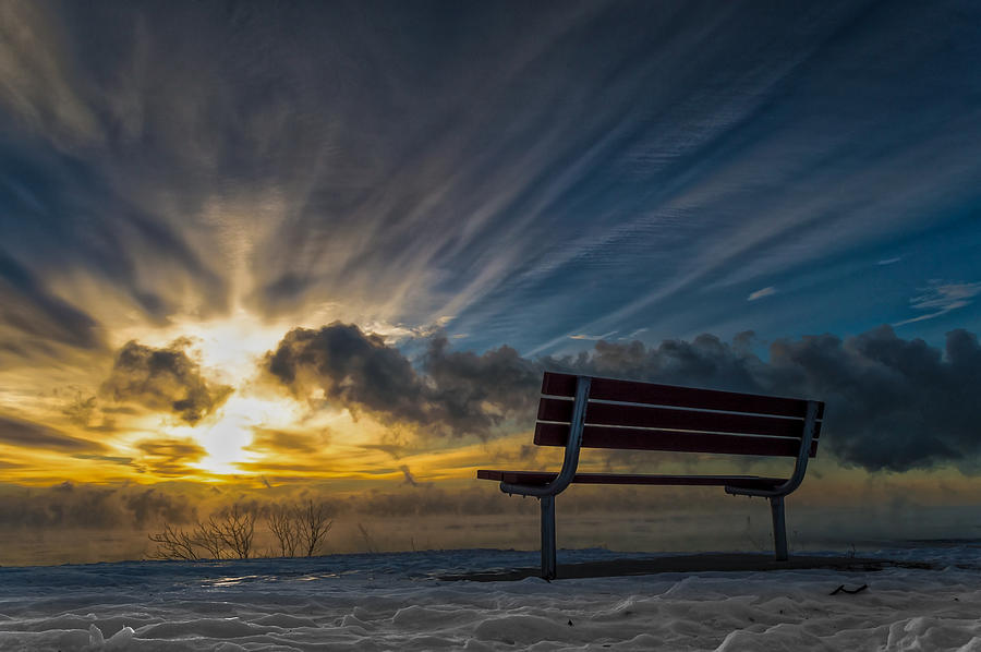 Sunrise Photograph - Front Row by James  Meyer