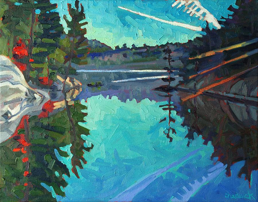Outlet Painting - Frood Lake Outlet by Phil Chadwick