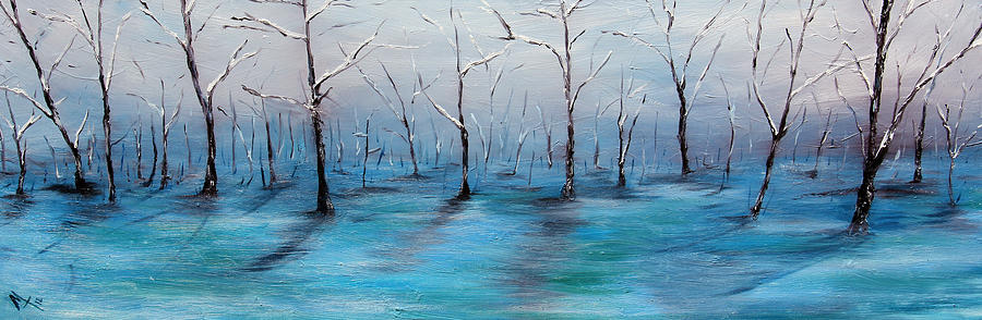 Woods Painting - Frost Like Ashes by Meaghan Troup