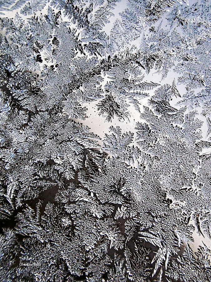Frost Photograph - Frosted Glass Abstract by Christina Rollo