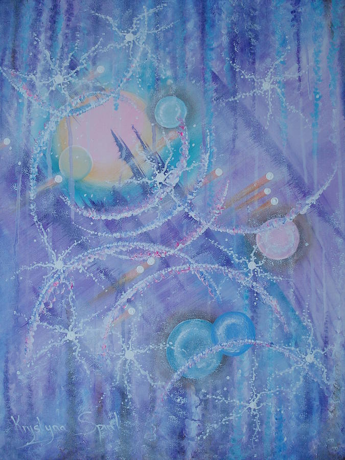 Frosticles Painting by Krystyna Spink