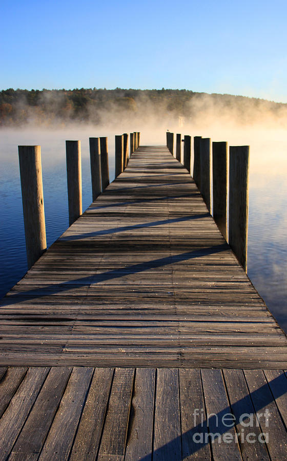 Fall Photograph - Frosty Docks 3 by Michael Mooney