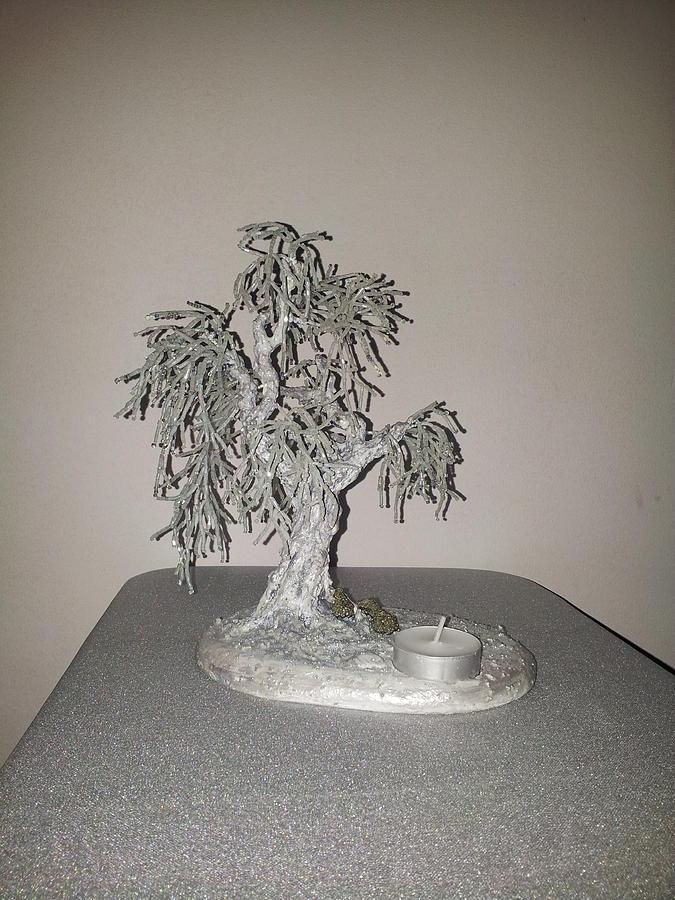 Winter Tree Sculpture - Frosty by J-Star Wind