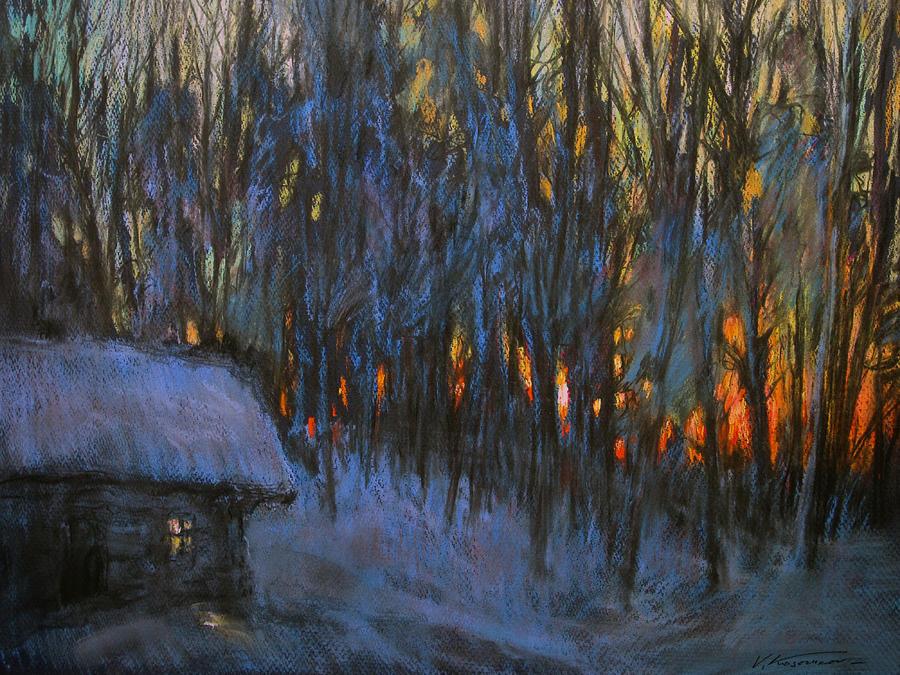 Landscape Pastel - Frosty Morning by Valery Kosorukov
