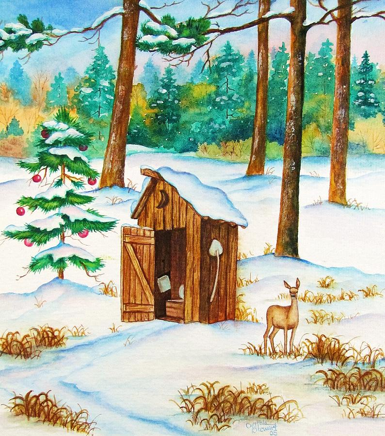 Deer Painting - Frosty Morning Walk by Cynthia Stewart