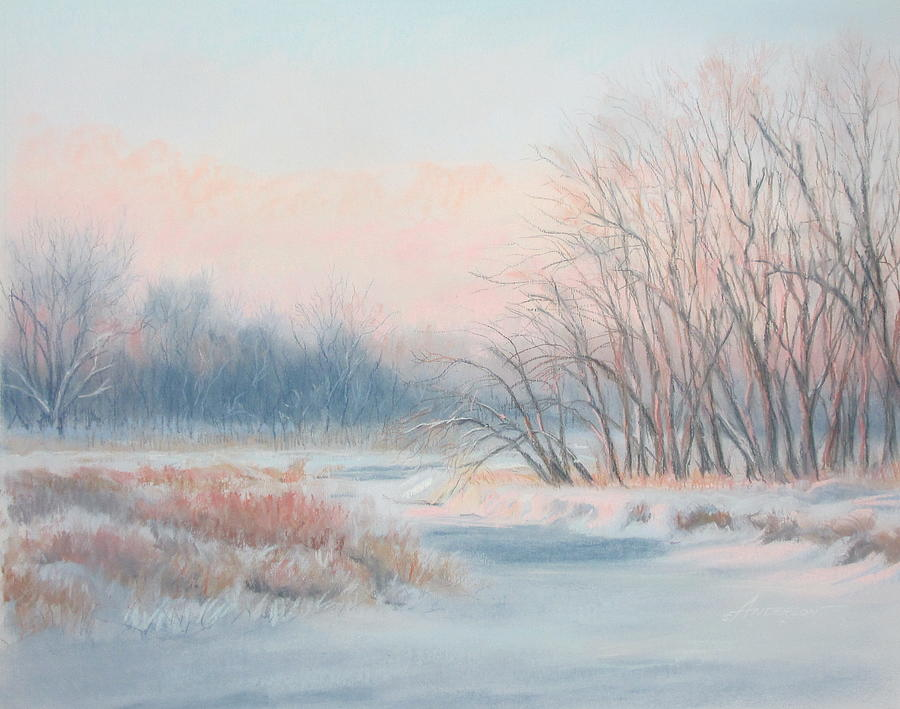 Landscape Pastel - Frosty Toes At Catfish Corner by Sherri Anderson
