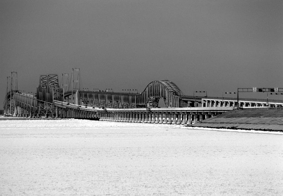Bay Bridge Photograph - Frozen Bay Bridge by Skip Willits