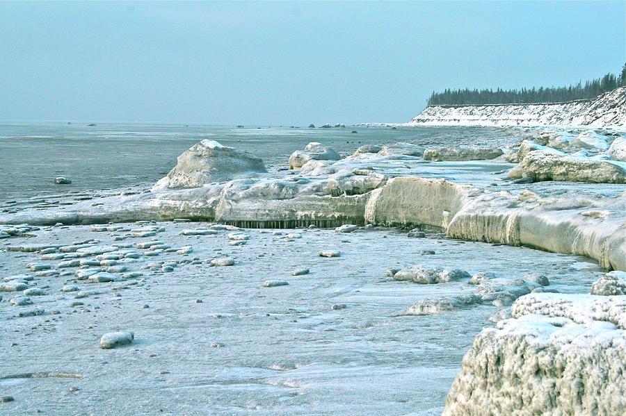 Shore Photograph - Frozen Beach by Rick  Monyahan