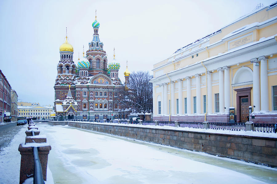 Frozen Canal Near Church Of The Savior Photograph by Jacobs Stock Photography Ltd