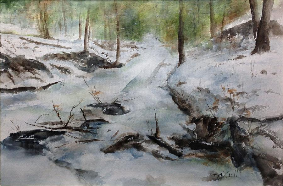 Landscape Painting - Frozen Creek by Don Cull