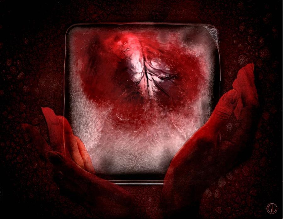 Heart Digital Art - Frozen Heart by Gun Legler