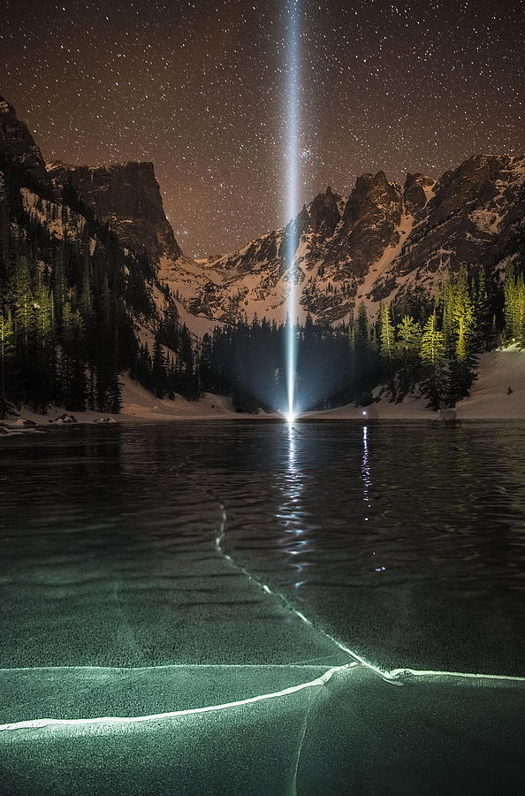 Alpine Photograph - Frozen Illumination At Dream Lake Rmnp by Mike Berenson
