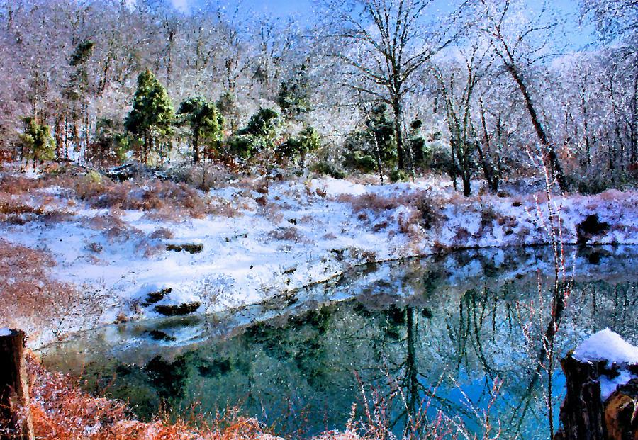 Pond Photograph - Frozen by Kristin Elmquist