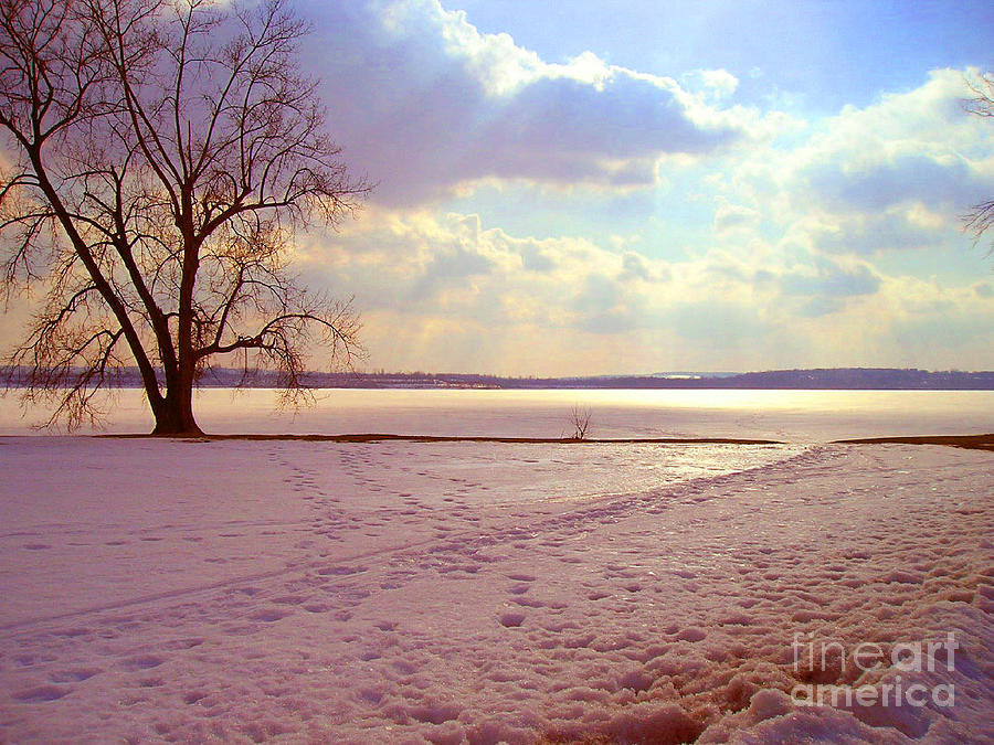 Landscape Photograph - Frozen Lake II by Silvie Kendall