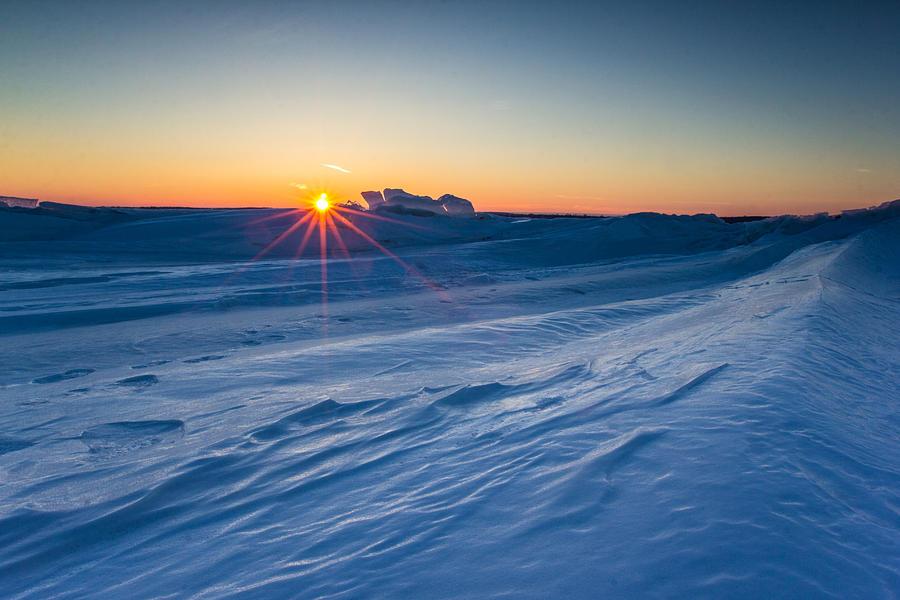 Lake Minnewaska Photograph - Frozen Lake Minnewaska by Aaron J Groen