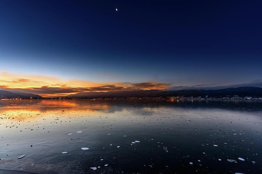 Frozen Lake Photograph by Vic Shimamura