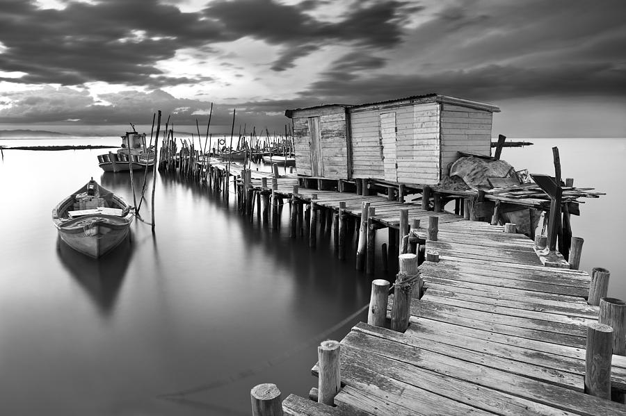 Pier Photograph - Frozen Melody by Jorge Maia