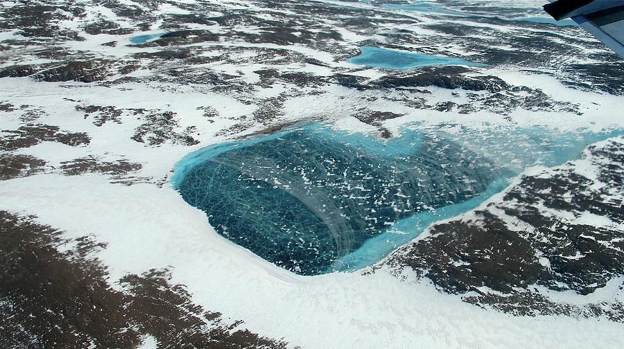 Ice Photograph - Frozen Meltwater Lake by Nasa/jim Yungel
