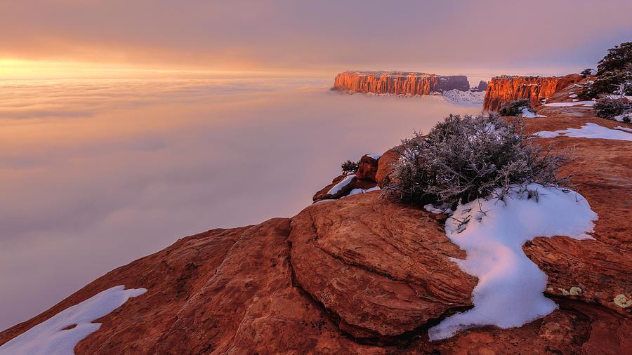 Canyonlands Photograph - Frozen Mesa by Chad Dutson