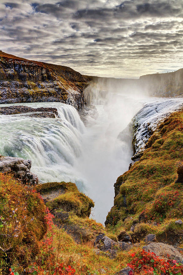 Frozen Mist On Autumn Day At Gullfoss Photograph by Anna Gorin