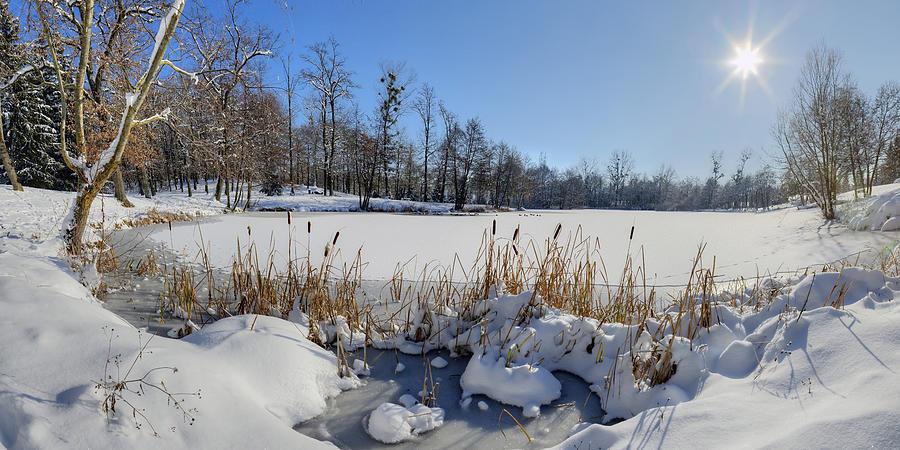 France Photograph - Frozen Pond by Patrick Jacquet