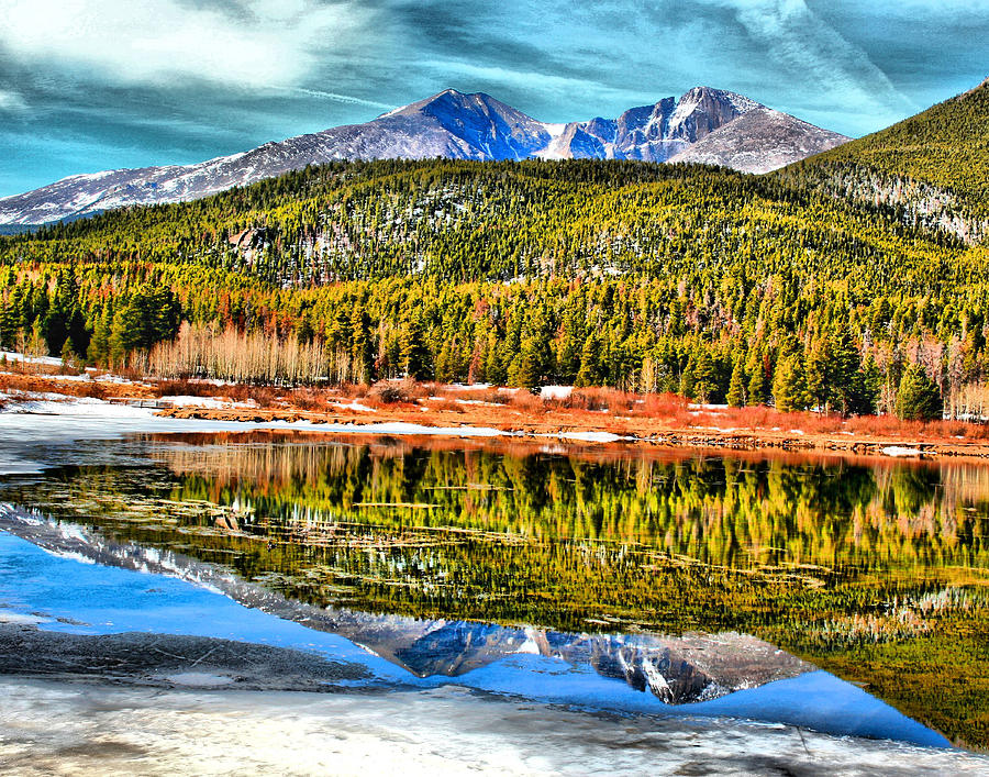 Lily Lake Photograph - Frozen Reflection On Lily Lake by Rebecca Adams