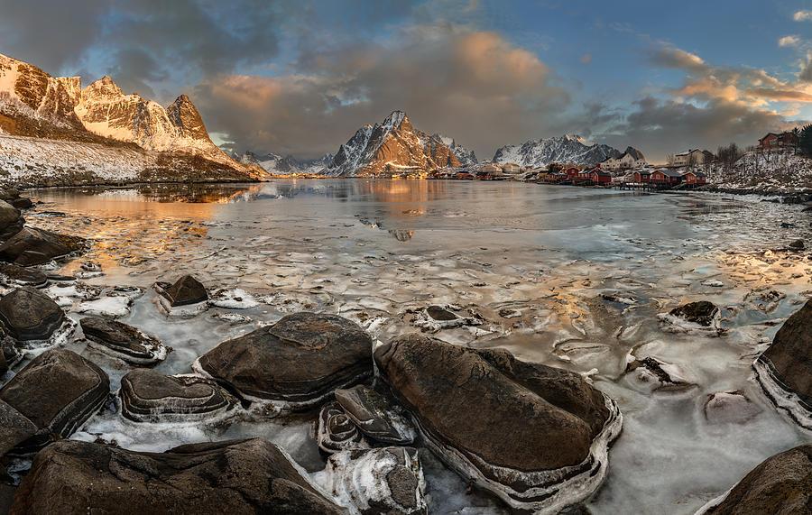 Panorama Photograph - Frozen Reine by Jan ?m?d Master