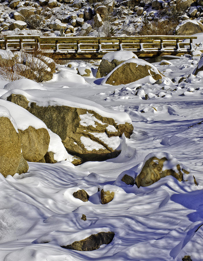Landscape Photograph - Frozen Roaring River by Tom Wilbert