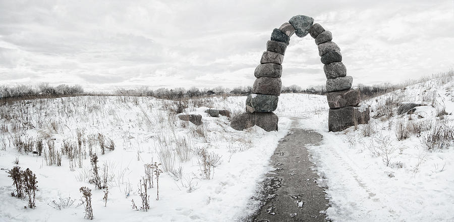 Frozen Stone Arch Photograph